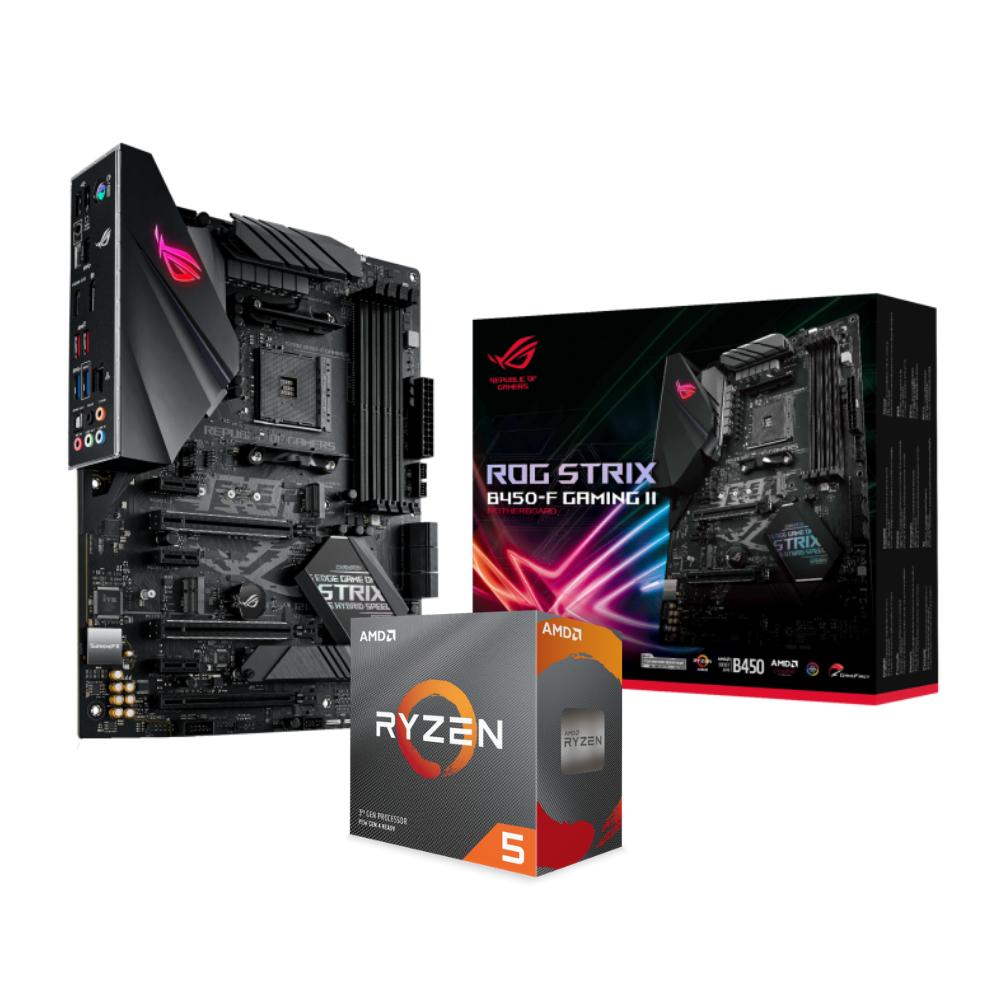 BUNDLE MB ASUS B450F II + CPU AMD RYZEN 3600 BOX